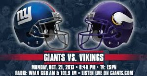 Sunday Night New York Giants vs Minnesota Vikings NFL Spread Picks