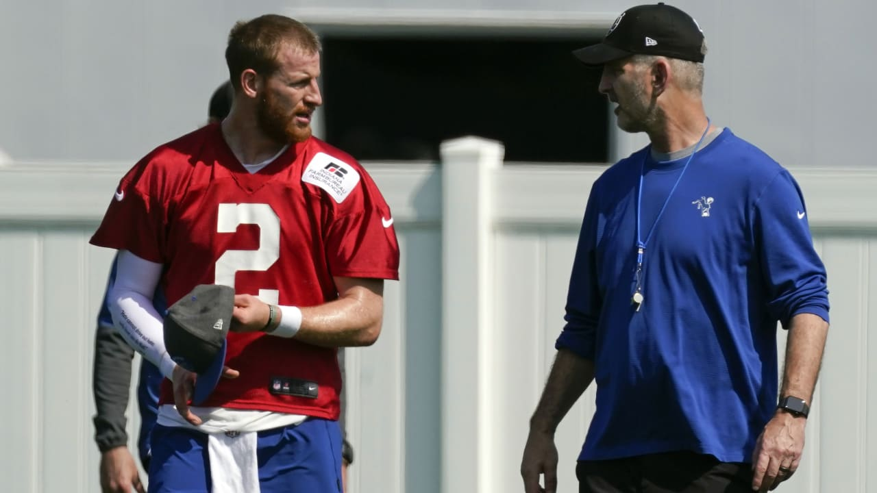 new colts QB carson wentz with frank reich